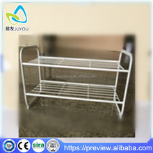 Hot selling 2 Tier 8 Pairs Non-woven fabric Shoe Rack