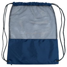 Clear View Polyester Mesh Sports Drawstring Backpack