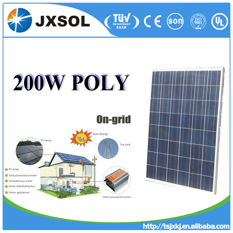 high quality poly silicon celdas solares 200w poly solar panel for home power