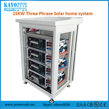 three phase 15kw residential solar power 220Volt mobile energy storage system