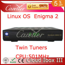 Super value cloud ibox 3 enigma 2 twin tuner dvb-s2 and dvb-t2/t/c best linux hd satellite tv receiver