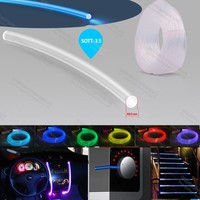 super high bright 3.5mm side glow fibre optic fiber light for home lighting decoration