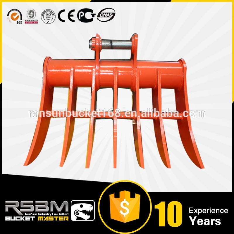 Widely Used mini excavator root rake for wholesale