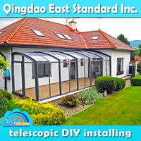 East Standard insulation retractable polycarbonate aluminum sunroom