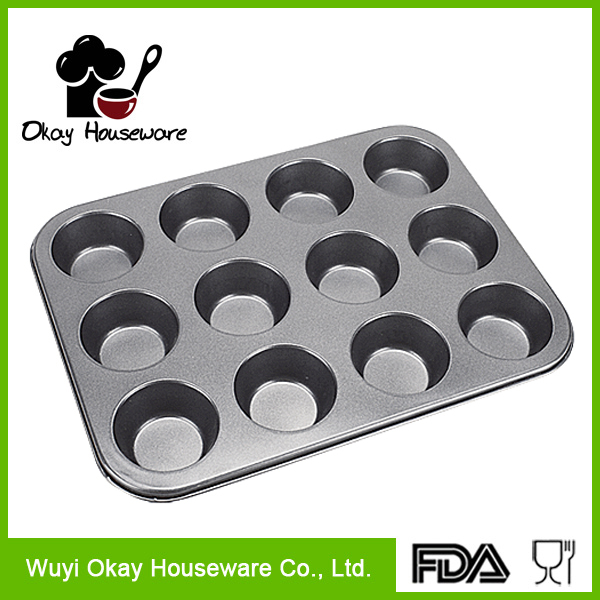 Non Stick 12 Cupcake Baking Pan Tray/Muffin Pan(BK-B1209)