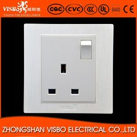 Simple Designed British Standrad UK Electrical Socket with Switch