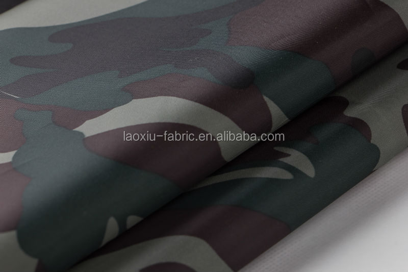 silver coating 190T polester taffeta waterproof canvas fabric