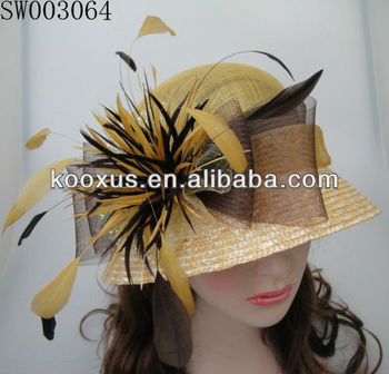 Fashionable Sinamay Hat/Church Hat/Wedding Hat