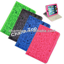 Cute Cartoon Stand Leather Case For iPad Mini