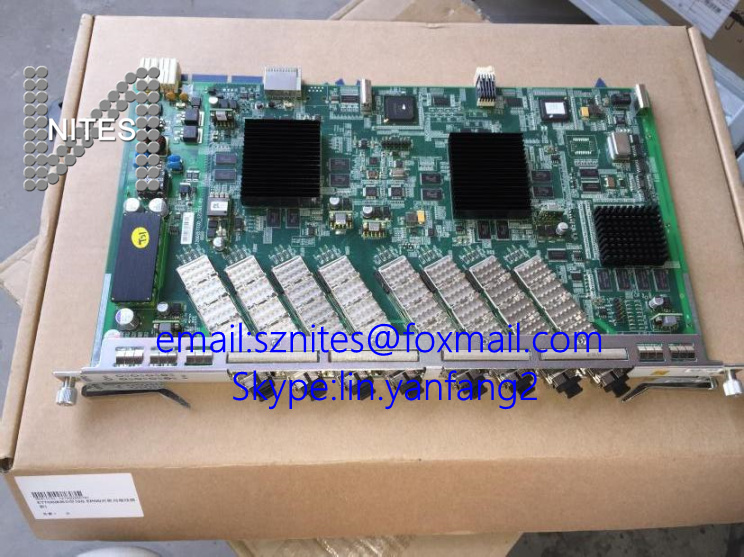 Brand new ZTE GTTO 10G high speed GPON 8 ports board with 8pcs modules, use for OLT C300 C320