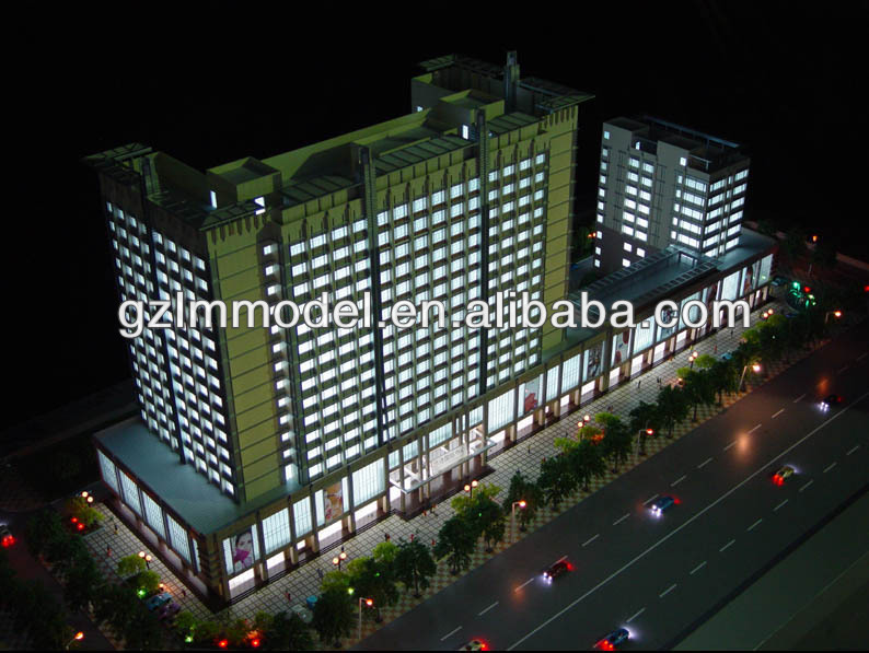 3D International Building scale model making /Public Work building Model /architectural scale model maker