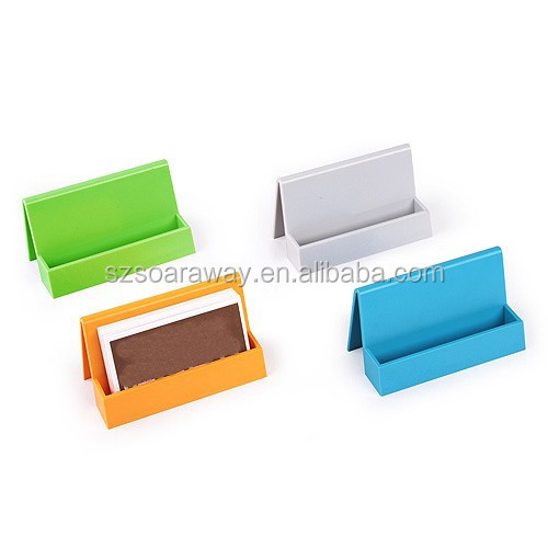 Wholesale PS plastic Name Card Holder / promotional stationery card case / cheap business card holder