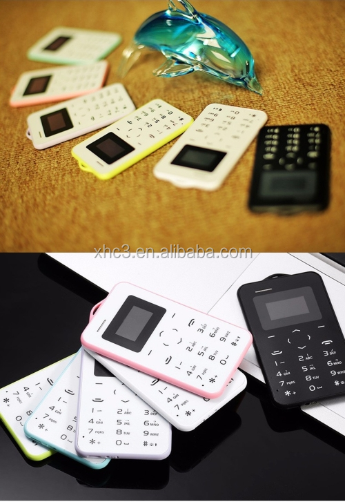 2017 newest design AEKU C6 Card Mobile Phone 4.8mm Ultra Thin Pocket Mini Slim Card Phone
