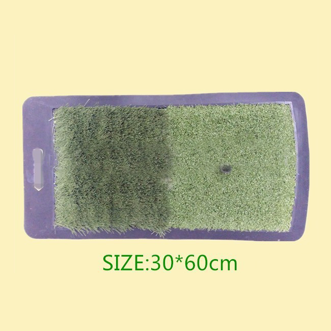 Hot sale factory price mini portable indoor rubber golf putter mat with tee for golf training