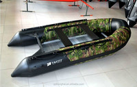 CE certificate camouflage inflatable PVC boat for sale 3.6m