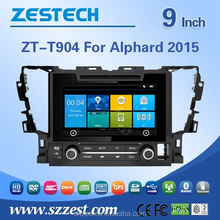 2 din 7 inch car dvd player for TOYOTA ALPHARD 2015 2 din car dvd player with CE EMC LVD FCC
