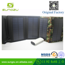 China Golden Manufacturer 8W 5V Foldable Portable solar phone charger