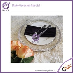 18106 2014 silver beaded charger plates wholesale rhinestones charger plates