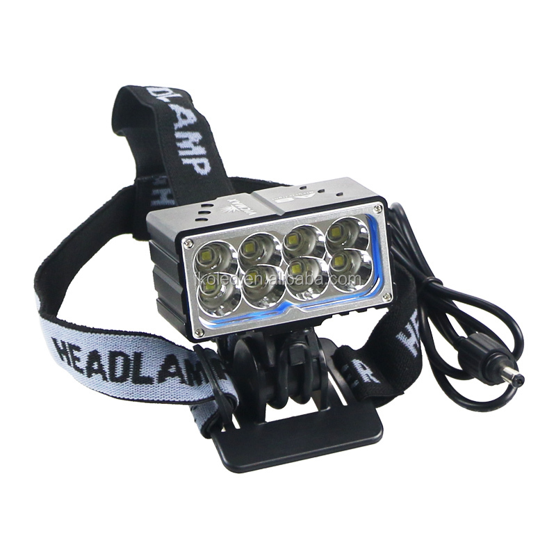 13000LM 8 X xml <strong>u2</strong> <strong>LED</strong> <strong>Bicycle</strong> <strong>Light</strong> Headlamp Bright <strong>LED</strong> Bike Lamp Headlight with Battery Pack and Charger For Camping