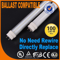 Hot sale ballast and starter compatible 1.5m t8 led tube direct replacement fluorescent tube no need rewire