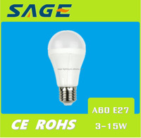 10w A60 E27 LED Bulb LED Plastic Bulb Warm Light