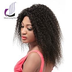 2015 hot hair products beauty virgin afro kinky curl brazilian hair kinky curly lace front wig for black women online sale