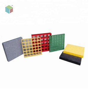 Different colors FRP Molded Grating FRP WellGRID Factory Supply GRP Fiberglass FRP swimming pool grating