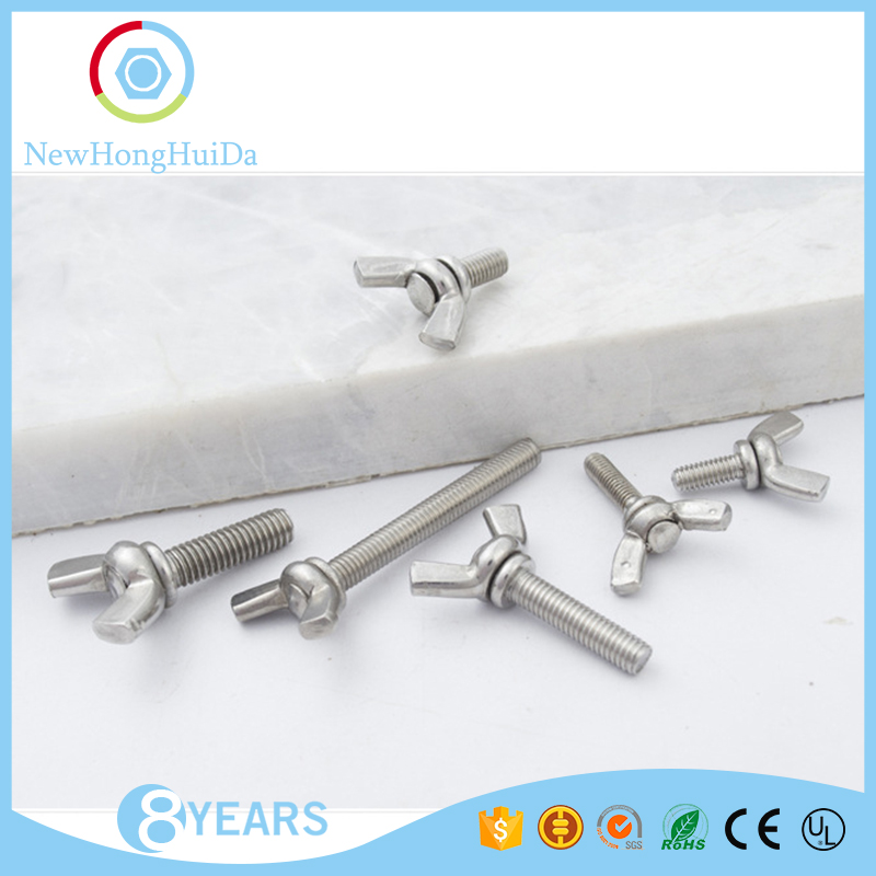 China fastener manufaturer M6 sizes wing butterfly bolt screw