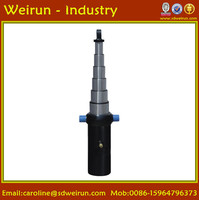 professional OEM 30-100Tons Single Acting Telescopic Hydraulic Cylinder For Dump Truck/Trailer/Lifting Truck