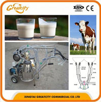 Crazy Sale poultry fram use portable YDH-I Single Cow Milking Machine Kenya price on sale for cow milk