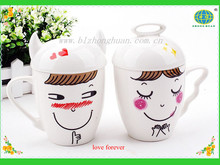 Lover porcelain mug with lovely design for gift