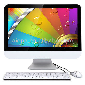"21.5"" lcd display cheap all in one barebone pc"
