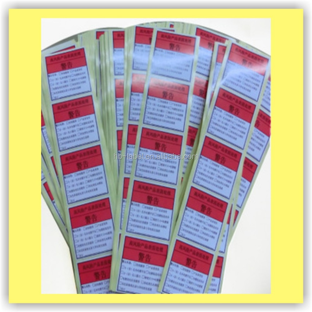 Permanent Adhesive Labels Sheet Sticker Warranty Void Label
