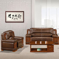 2015 Simple Wooden Leather single sofa seater Design (SJ5096H)