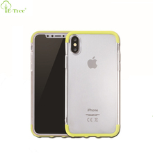 Hybrid Plastic Crystal Clear Soft TPU Bumper Case For iPhone X Back Cover , Colored Case for iPhone 8