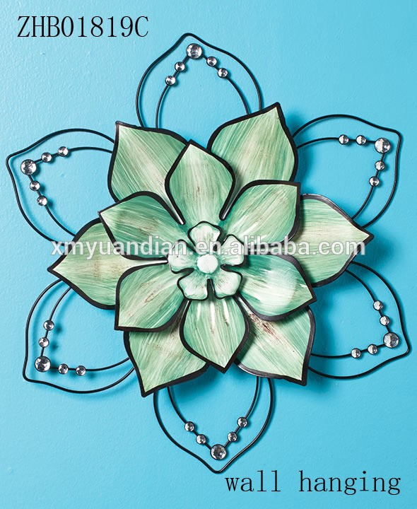 wholesale home decoration flower metal wall art hanging
