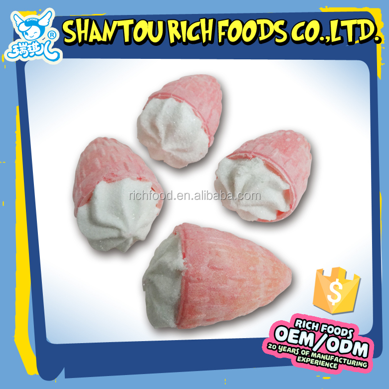 Fruit shape strawberry marshmallow candy,marshmallow manufacturers