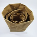 Custom manufacturer for 100% fiber cellulose washable kraft paper storage bag