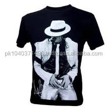 Custom New Famous Design Round Neck Michael Jackson Sublimated Printed T-Shirt