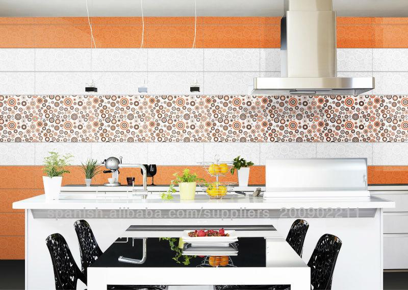 brillante color de naranja de ceramica baldosa, azulejos para la ...