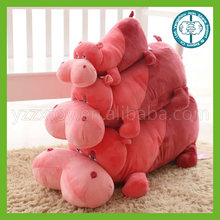 wholesale hot sale christmas red hippo stuffed animals for kids