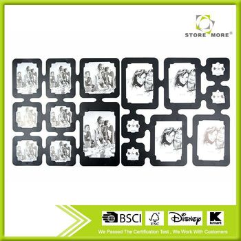 26 Pcs Frame DIY Decorative Room Dividers Black Wall Sticker Picture Photo Frame With PP