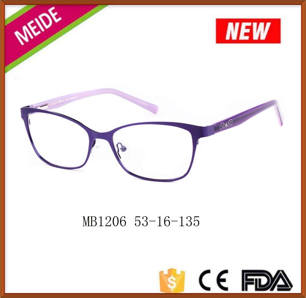 2016 popular vogue european style stainless steel eyeglass frames