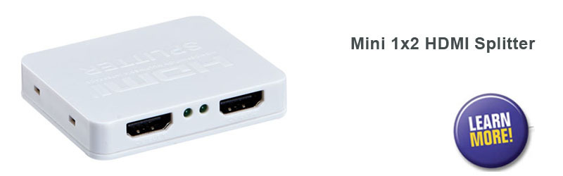 Mini 1x2 HDMI splitter-link