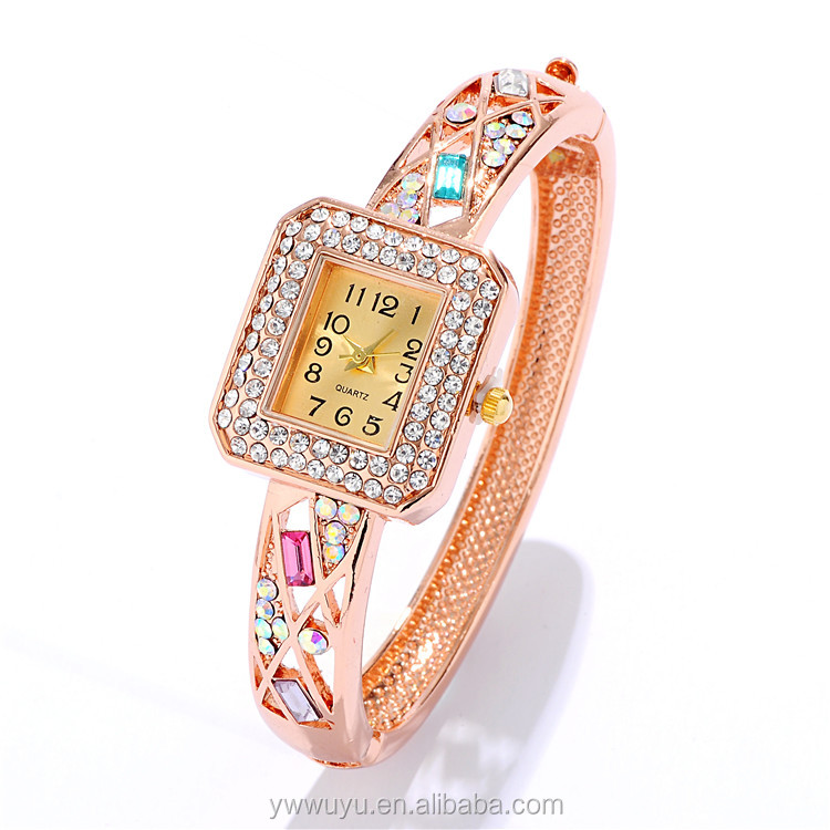 Rose Gold Bangle Ladies Quartz Custom Logo Watches Made In China
