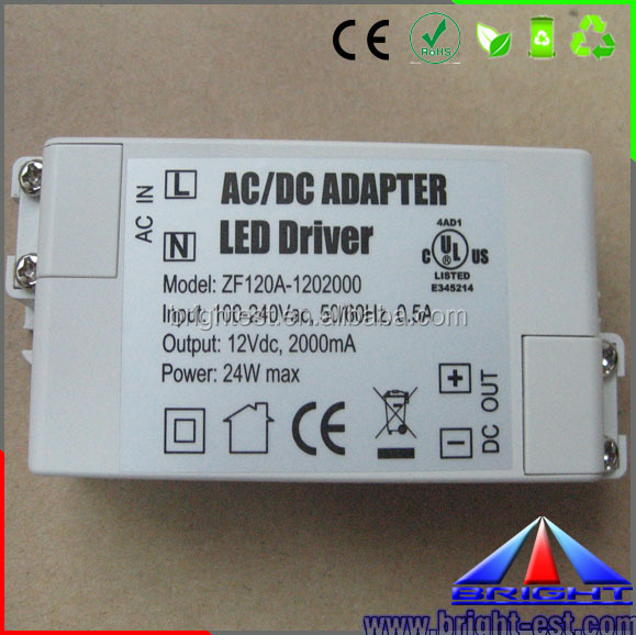 Water proof LED power supply IP67 with good quality, 24w LED Driver, LED Adapter 24w
