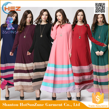 Zakiyyah-MD20018 Top quality fashion beautiful abaya colorful long dress muslim casual women maxi dress muslim