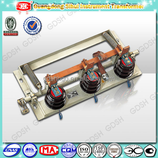 12kV 80kA, 50Hz, 3 Phases Electrical Equipment Earthing Switch