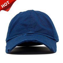 Wholesale Custom Different Types of 6 Panel Unstructured Baseball Caps Hats Men,100% Cotton Plain Distressed Dad Hat Blank with