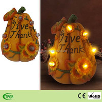 Polyresin pumpkin flower led string light Harvest festival decorations led garden light flower led light